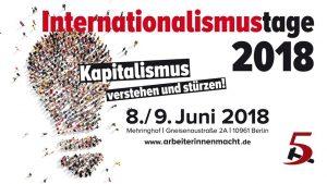 Internationalismustage 2018: 200 Jahre Karl Marx - Kapitalismus verstehen und stürzen! @ Berlin, Mehringhof, Versammlungsraum