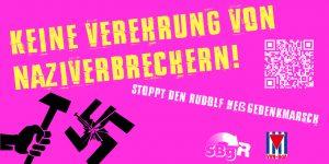 Keine Verehrung von Naziverbrechern @ Berlin, Bahnhof Spandau