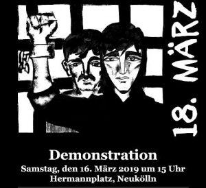 Solidarität mit allen politischen und revolutionären Gefangenen! @ Berlin, Hermannplatz