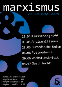 Marxismus & Klassenbegriff @ Berlin, Humboldt Universität, Hegelbau, Raum 1.404