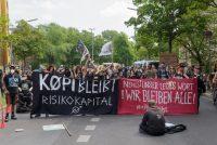 Protest und Widerstand gegen die Räumung der Köpi-Wagenburg